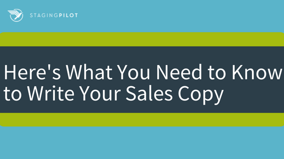 Here's What You Need to Know to Write Your Sales Copy